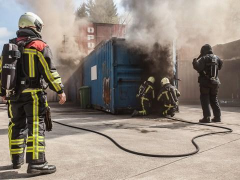 Brandweer Vredestein oefening