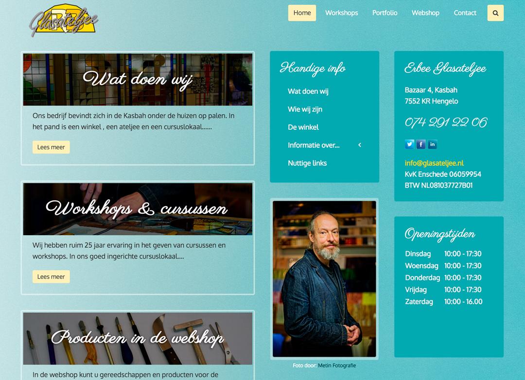 Foto voor het Glasateljee, kijk op http://www.glasateljee.nl/