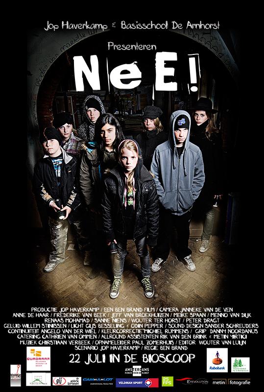 Voor de korte film NEE! de foto voor de poster en de poster gemaakt.