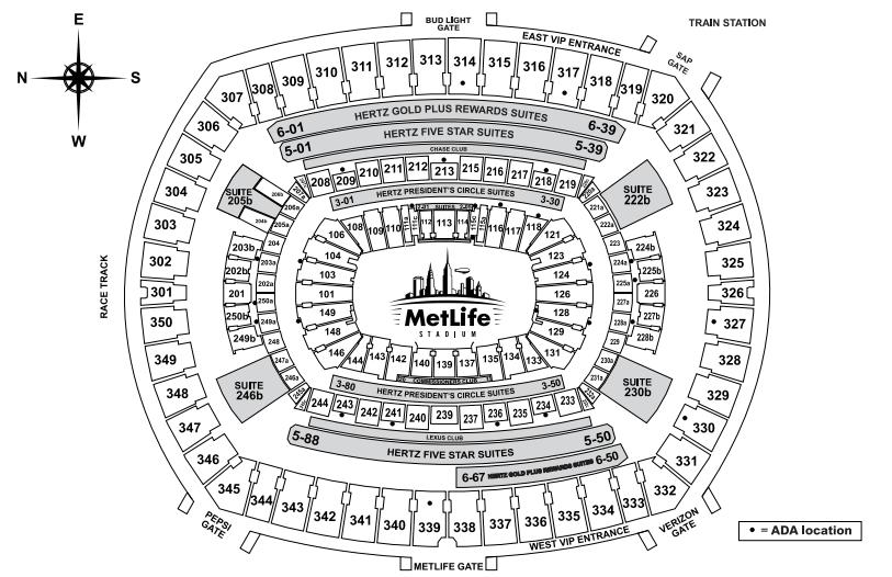 diagram of seating in heinz field