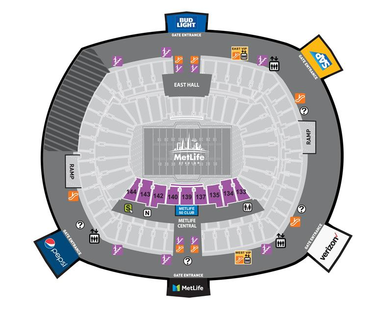 Metlife Stadium One Direction Seating Chart With Seat