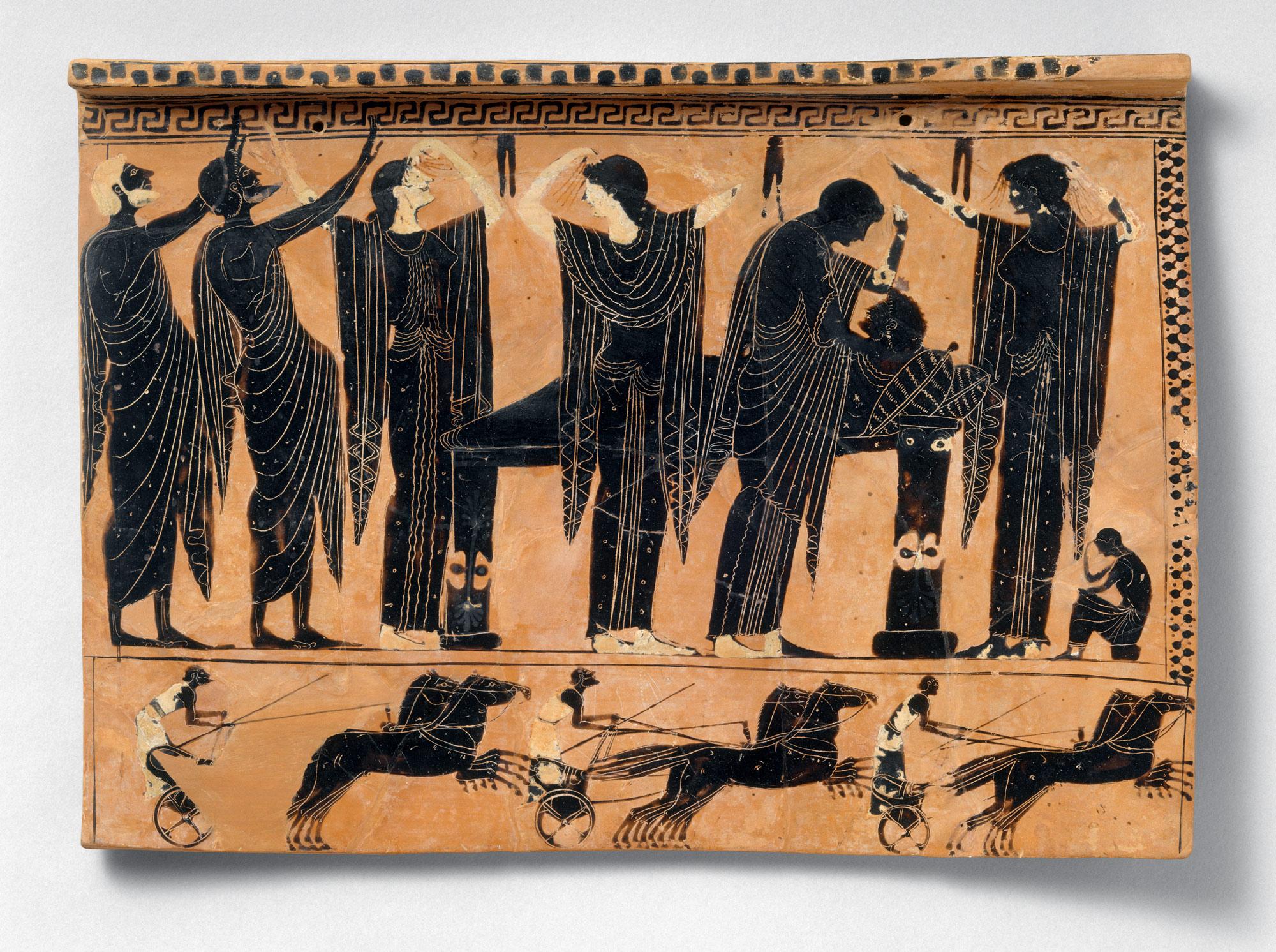 Terracotta Funerary Plaque Work Of Art Heilbrunn