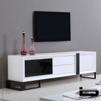 b-modern Entertainer, White & TV Stands | MetropolitanDecor