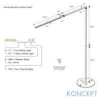 Z-Bar LED Floor Lamp | Koncept | MetropolitanDecor