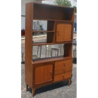 Metro Retro Furniture : Vintage Walnut Bookcase Display ...