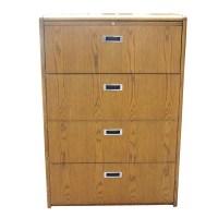 Vintage Four Drawer Wood File Cabinet | eBay
