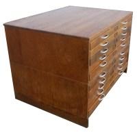 Vintage Mayline Wood 10 Drawer File Cabinet   eBay