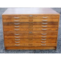 Vintage Mayline Wood 10 Drawer File Cabinet | eBay