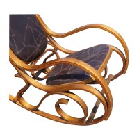 Vintage Leather and Bentwood Rocking Chair