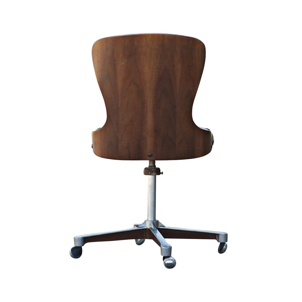 Mid Century Modern Plycraft Swivel Desk Chair