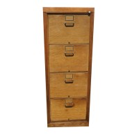 Antique Wooden File Cabinets Image