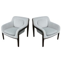 (2) Knoll Bill Stephens Bent Wood Club Lounge Chairs | eBay