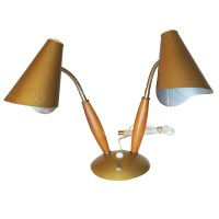 Vintage Mid-Century Double Cone Table Lamp | eBay