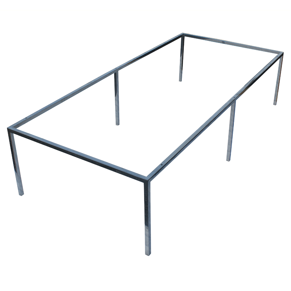 "66""x30"" Rectangular Stainless Steel Coffee Table Base"