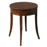 "24"" Art Deco Burl Round Table Lamp (MR10473) | eBay"