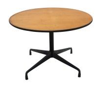 "42"" Round Herman Miller Eames Dining Table Oak | eBay"