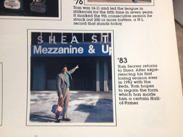 1983 mets yearbook tom seaver