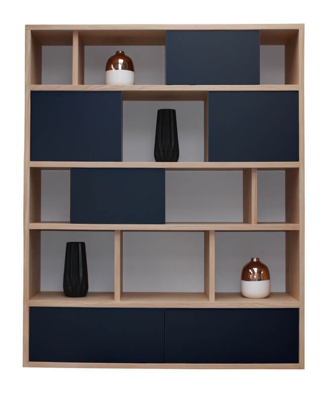 Double-sided bookcase with drawers PASSWORD by Riva 1920 Bookcase