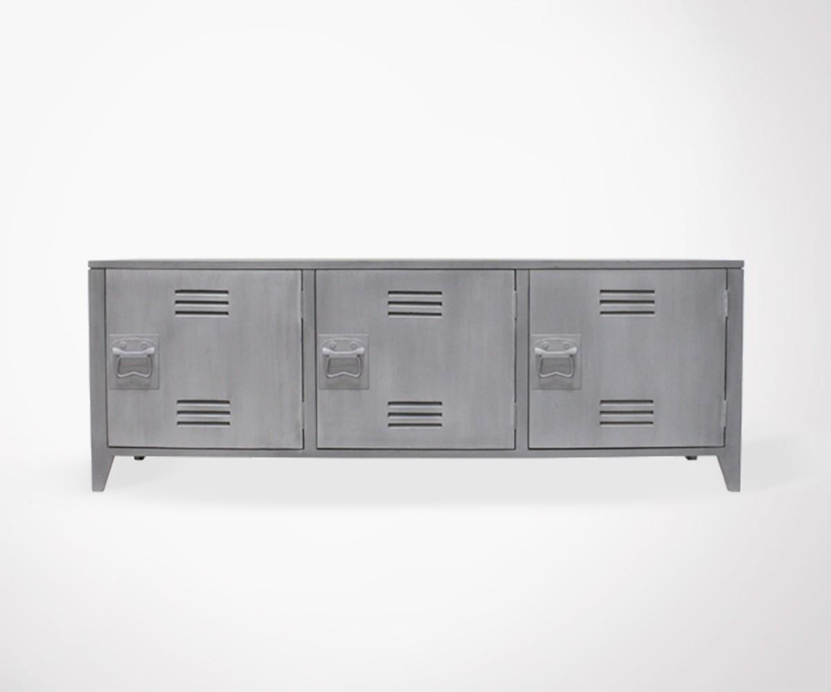 Mold College Locker Style Tv Unit Grey Meubles Et Design