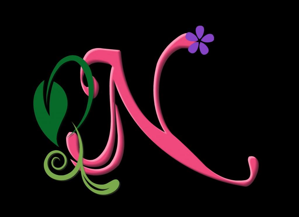 Neon Wallpaper 3d صور حرف N إن بالانجليزي ميكساتك