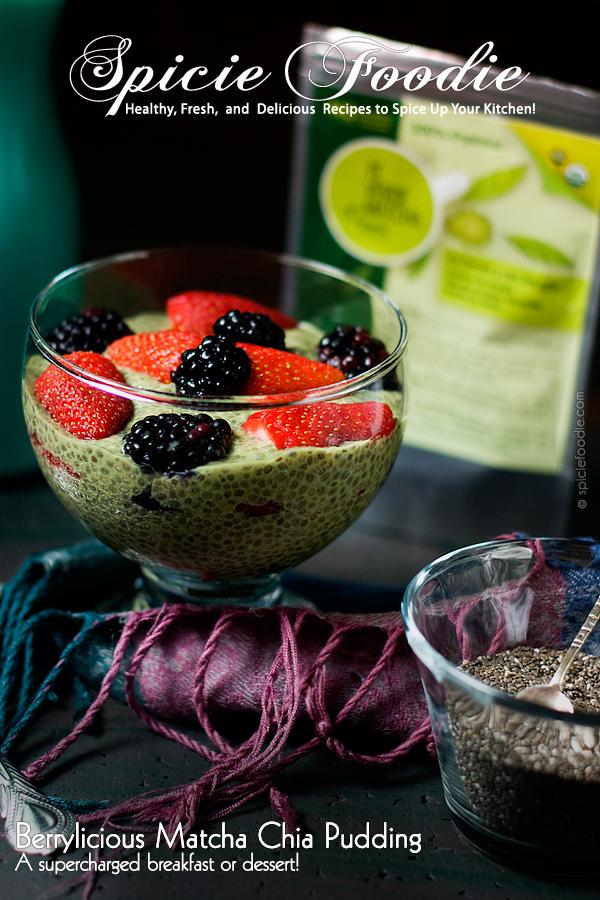 Berrylicious #Matcha #Chia Pudding   #vegan #raw