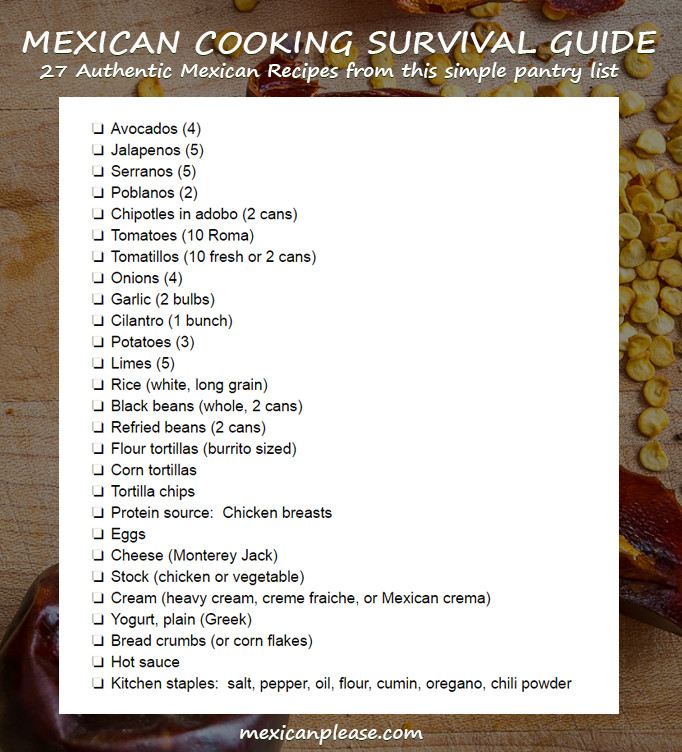 Ingredient Tips for the Mexican Cooking Survival Guide Mexican Please