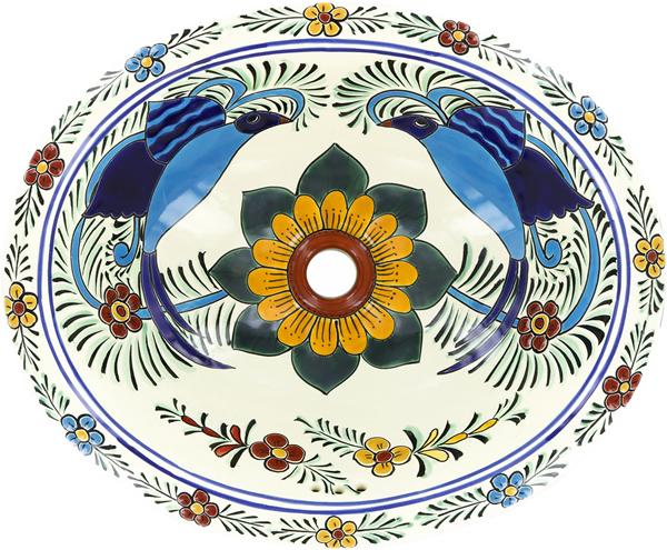 Mexican Tile Mexican Talavera Sink Hummingbird