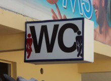 Funny Cancun washroom sign