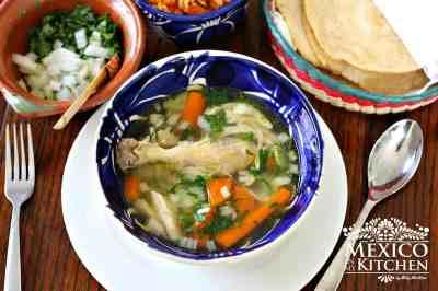 How to make Caldo de Pollo Recipe | Chicken Soup 【 VERY EASY