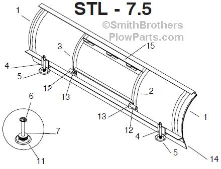 Meyer Snow Plow Moldboard Parts - Meyer ST, Meyer TM, Meyer HM