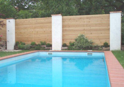 Sichtschutz Zaun Holz waagrecht Garten Pinterest Zäune holz - trennwand garten holz