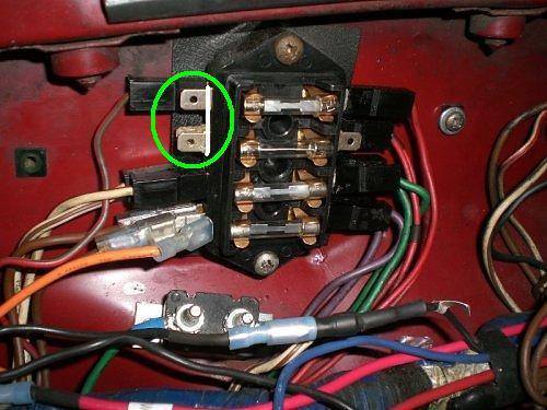 mgb fuse box wires