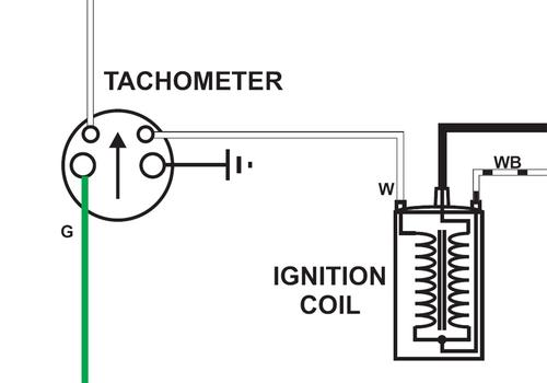 tachometer coil wiring
