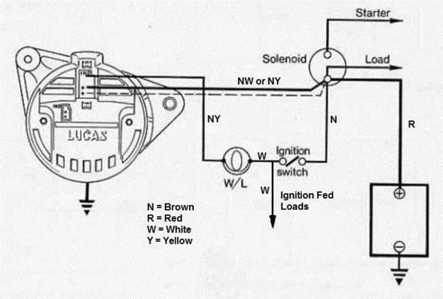 lucas 16 acr alternator wiring
