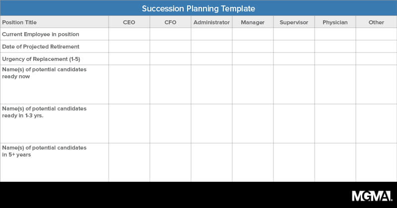 10 steps to develop a leadership succession plan