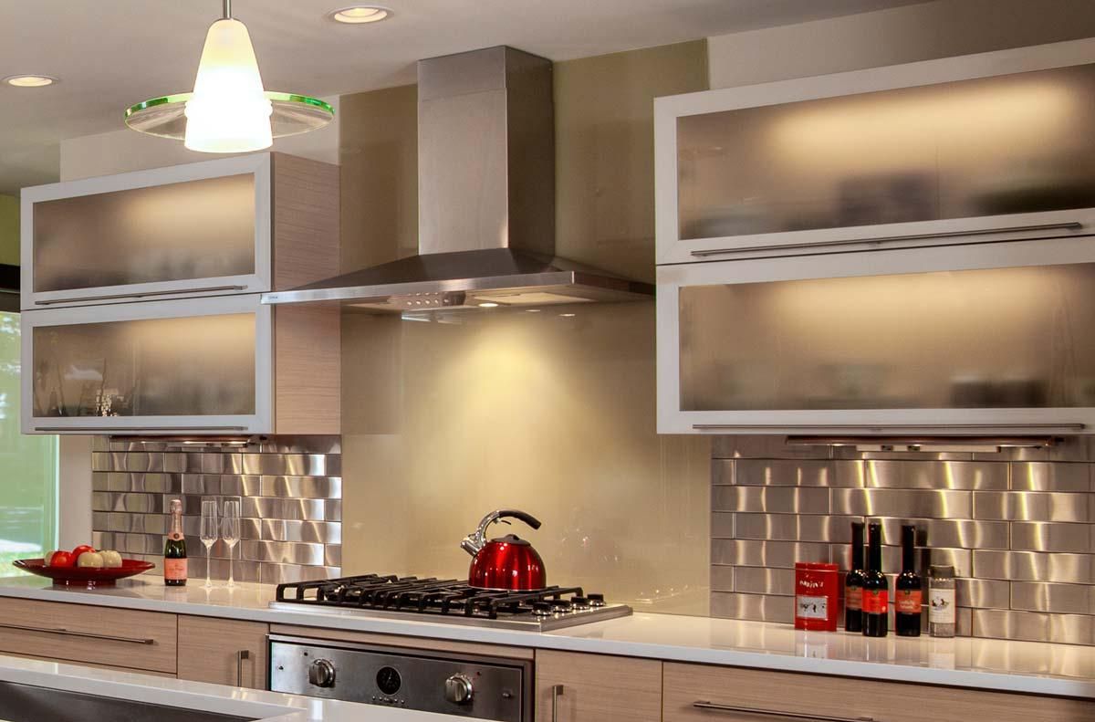 70s ranch style kitchen remodel camp hill pa kitchen remodeling york pa Camp Hill PA Galley Kitchen Remodel glass backsplash