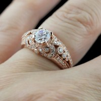 Rose Gold Rings: Antique Rose Gold Rings For Women