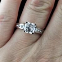 Modern Brides LOVE Asscher cut Diamonds   MiaDonna The ...