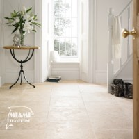 TRAVERTINE TILE FILLED HONED 24X24 IVORY SELECT  Miami ...