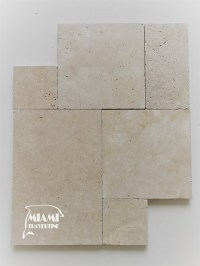 TRAVERTINE PAVER FRENCH PATTERN IVORY  Miami Travertine