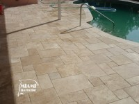 TRAVERTINE TILE FRENCH PATTERN IVORY  Miami Travertine