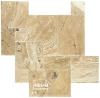TRAVERTINE TILE FRENCH PATTERN LEONARDO  Miami Travertine