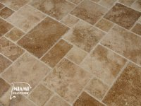 TRAVERTINE TILE FRENCH PATTERN NOCHE  Miami Travertine