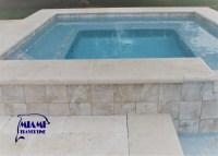 TRAVERTINE POOL COPING IVORY 12X24  Miami Travertine