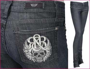 Rock and Republic jeans med döskallar