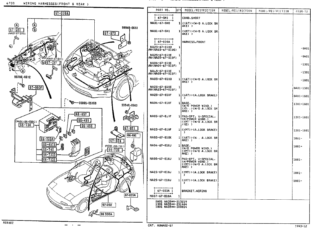 mazda rx7 wiring harness diagram