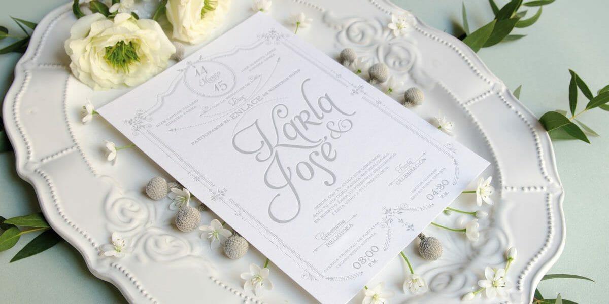 Tendencia de invitaciones para bodas 2018 MiBoda