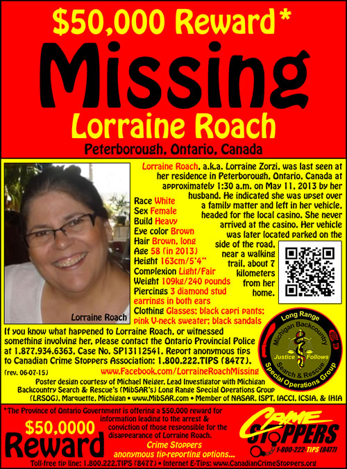 Lorrain Roach\u0027s Missing-Person Web site - Missing Persons Posters