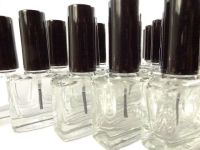 Flat Square Nail Polish Bottle (Black Cap) | Micamoma