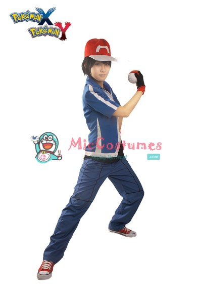 Pokemon XY Ash Ketchum Cosplay Costume